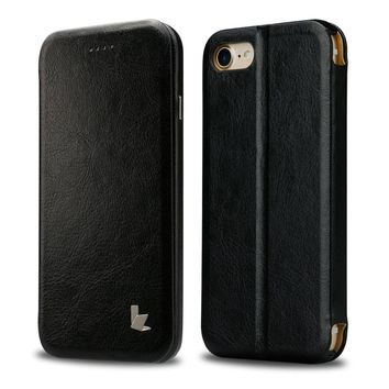 Luxury Phone Cases for iPhone 7 Case Cover PU Leather Jisoncase Anti-knock Mobile Phone Smart Cover for iPhone 7 4.7 with Magnet