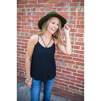 Come On Over Tank Top - Black