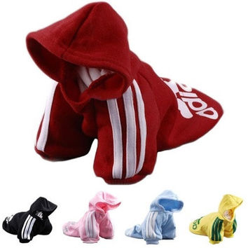 Adidog New Autumn and Winter Dog Clothes, Puppy Jumpsuit, Pet Hoodies 7 Colors XS S M L XL XXL XXXL XXXXL XXXXXL [9305905479]