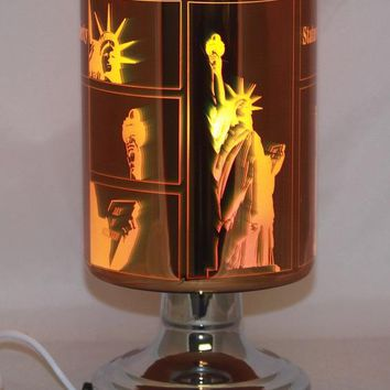 Statue of Liberty Table Fragrance Aroma Lamp Oil Diffuser Wax Tart Candle Warmer Burner Home Decor Touch Lamp