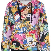Lovely Cartoon Family Print Hoodie - OASAP.com