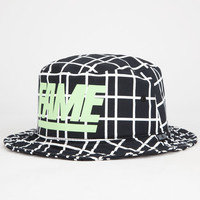 Hall Of Fame Block Glow In The Dark Mens Bucket Hat Black One Size For Men 25298810001