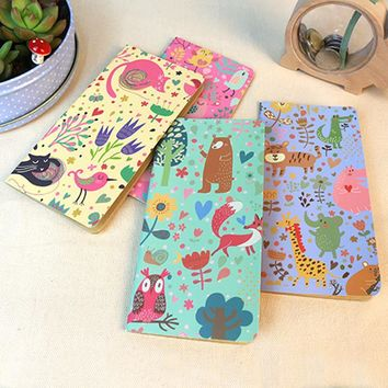 4pcs/lot   Secret Garden Notebook Office Supplies Diary Book DIY Retro The Kraft Paper Blank Notepad
