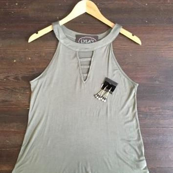 Beat Goes On Olive Tank