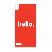Hello White Hard Plastic Case for Huawei P6 by textGuy