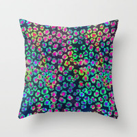 GLOW LEOPARD Throw Pillow by Schatzi Brown