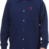 HUF Classic H Navy Fleece Coach Jacket