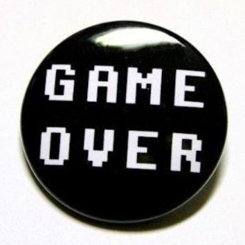 Game Over Button Pin by theangryrobot on Etsy