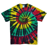 Rasta Stained Glass Tie Dye T Shirt on Sale for $16.95 at HippieShop.com