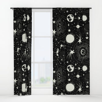 Solar System Window Curtains by Heather Dutton