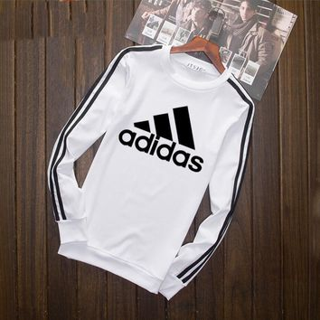 One-nice™ AdidasLoose Long Sleeve T-Shirt Tops White I-YSSA-Z