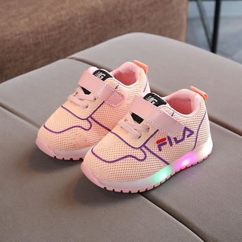 2018 white Led children's shoes basket led kids, boy bright child shoe, led shoes for kids girl sneakers,baby sport toddler