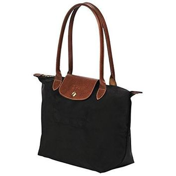 Small Tote Bag L Black By Longchamp Paris Le Pliage 100% Authentic Original From Paris France - Beauty Ticks