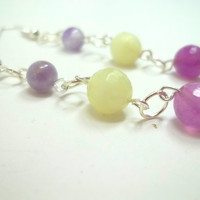Jewelry, Earrings, Beautiful Stone Earrings with Handmade Chain, READY to SHIP, Boro Ballers