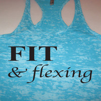 Fit and Flexing Womens Workout Fitness Burnout Tank Top Work It Wear