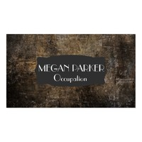 Black and Brown Distressed Grunge Business Card