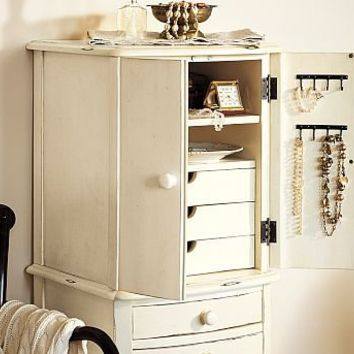 Charlotte Jewelry Armoire Pottery Barn From Pottery Barn