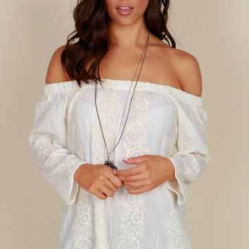 Open Air Embroidered Top Floral