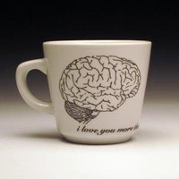 zombies love brains teacup by foldedpigs on Etsy