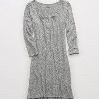 Aerie Plush Long Sleeve Dress, Dark Heather