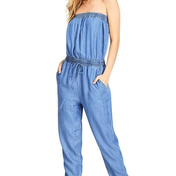 Day Trip Chambray Jumpsuit
