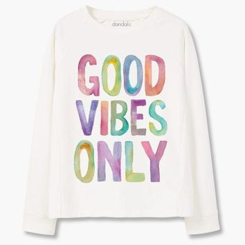 PEAPON Sweatshirt 'Good Vibes Only'