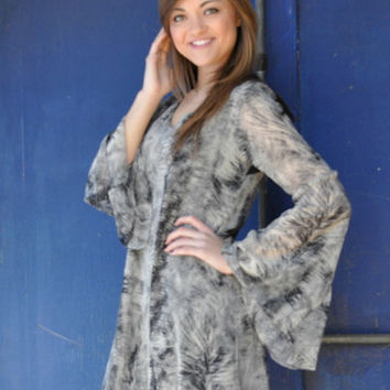 Trace Your Path Dress - Grey