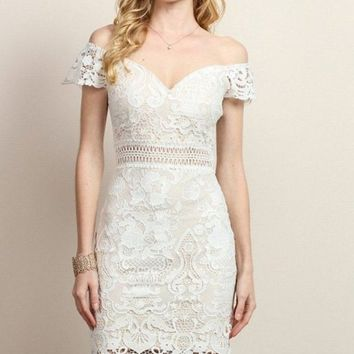 Poetic Grace White Lace Dress