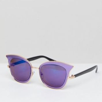 Jeepers Peepers cat eye sunglasses in purple at asos.com