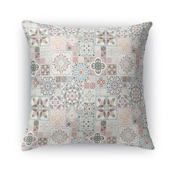 MOROCCAN TILES WITH ROSE GOLD Accent Pillow By Pip & Lulu