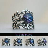 River Song Antique Silver Cuff Ring