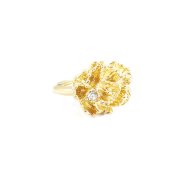 80s__Avon__Textured Floral Ring
