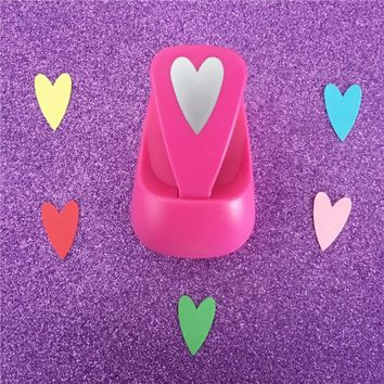 """Free Ship 1"""" Love shaped save power paper/eva foam craft punch Scrapbook Handmade punchers hearts hole punches heart puncher"""