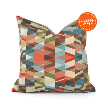 Decorative Pillow Cover, Colorful Pillow for Home Decor. Modern Decorative Pillow for Sofa, Unique Throw Pillow Cover.
