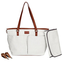 Diaper Bag by Hip Cub - Messenger Designer Collection W/ Cute Baby Changing Pad