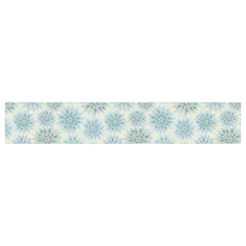 "Julia Grifol ""My Delicate Flowers"" Blue Green Table Runner"