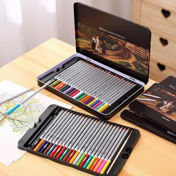 Set of 24/36/48/72 Water Colour Pencils Paper/Tin Case Colorful Drawing Pencils Great GIft Water Soluble Colour Pencils