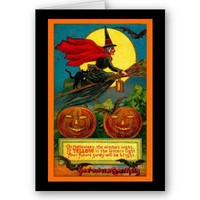 Witch Night Greeting Cards from Zazzle.com