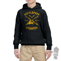 BEATER - Hufflepuff Quidditch team Beater printed on YOUTH / KIDS Hoodie