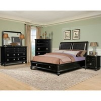 Klaussner Danbury 5-Piece Bedroom Set in Black