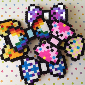 "A ""Commit to 8-Bit"" Hair Bow - My Little Pony Cutie Marks"