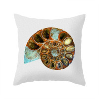 Ammonite Fossil Pillow Cover