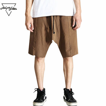 Summer Simple Beach Shorts Loose Knee Length Shorts Men Solid Color Casual Cotton Board shorts Men Gyms Shorts