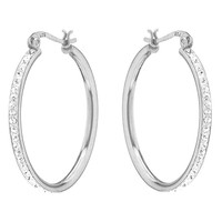 Sevil 925 Cubic Zirconia & Sterling Silver Hoop Earrings | zulily