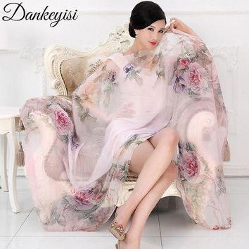 DANKEYISI 2017 Fashion Bandana Luxury Scarves Women Brand Silk Scarf Female Shawl High Quality Print Hijab Luxury Design