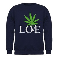 Love Cannabis Weed Sweatshirt (dark) on CafePress.com