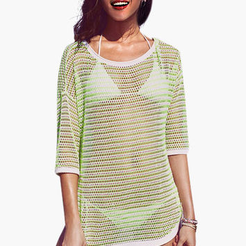 Green Net Mesh Cover-up