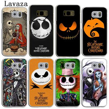 Lavaza The Nightmare Before Christmas Cartoon Hard Skin Phone Case for Samsung Galaxy S9 S8 Plus S3 S4 S5 S6 S7 Edge Back Cover