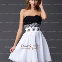 A-Line/Princess Sleeveless Sweetheart Chiffon Beading Short/Mini Cocltail Dresses - Homecoming Dresses - Special Occasion Dresses