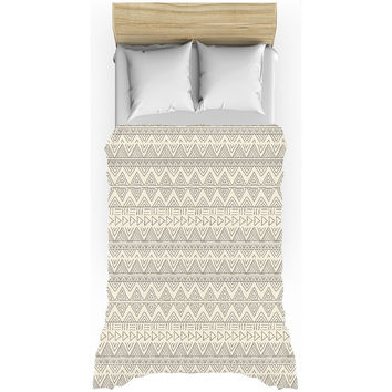 Cream African Mud Cloth Duvet Cover